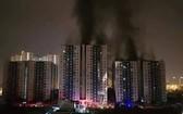 Carina公寓火警現場。(圖源:蔡玲)