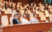 國會主席阮氏金銀、原國會主席阮生雄及國會副主席馮國顯出席了紀念儀式。(圖源:仲德)