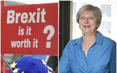 英國首相特蕾莎‧梅的「脫歐」計劃再次遭到攻擊。(圖源:AP)