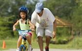 學騎自行車