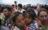 中南美洲移民抵達墨西哥南部邊境。(圖源:AP)