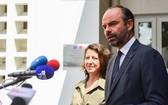 法國總理愛德華‧菲利普出席法國醫療中心落成開業儀式並發表講話。(圖源:黎君)