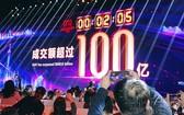 「2018天貓雙11全球狂歡節」成交額首兩分鐘即突破人民幣100億元。(圖源:互聯網)