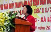 中央民運部長張氏梅出席全民族大團結盛會並發表講話。(圖源:慶福)