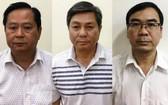 被暫時拘押的3名嫌疑人阮友信(左)、陶英傑(中)及張文細。(圖源:公安部)