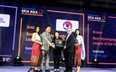 越南專業足球股份公司在頒獎儀式上。(圖源:互聯網)