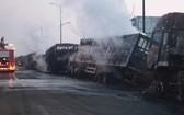 爆炸現場。(圖源:新華社)