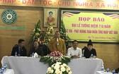 陳仁宗佛皇國際研討會即將舉辦。圖為新聞發佈會主席台。(圖源:梅安)