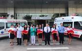 市115急救中心的第二十六分站投入運營剪綵儀式。(圖源:寶明)