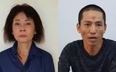 被起訴的2名嫌犯潘氏白雪(左)及阮芳大。