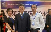 市師範大學中文系講師與中國講師合照。