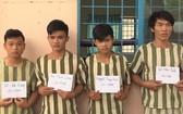 被扣押的4名歹徒。(圖源:民越報)
