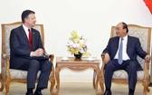 政府總理阮春福接見美國駐越南大使。(圖源:越通社)