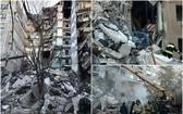爆炸威力強大使大廈損毀嚴重,救援人員在場搜救。(圖源:互聯網)