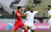 沙特阿拉伯(白衣)大勝朝鮮隊。(圖源:互聯網)