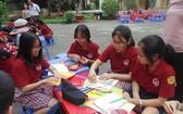 學生參加比賽一隅。(圖源:秋心)