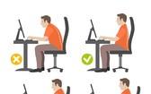 美研究提醒用正確姿勢操作電腦。(示意圖源:互聯網)