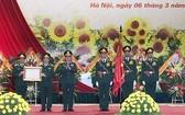 國防工會處舉行的一等捍衛祖國勳章迎接儀式。(圖源:賢芳)