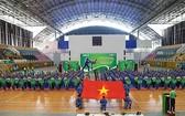 本市學生越武道大賽開幕儀式全景。(圖源:互聯網)