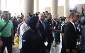 馬來西亞前總理納吉布‧拉扎克到法庭受審。(圖源:AFP)