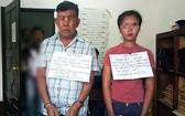 被抓獲的2名運毒嫌犯與物證。(圖源:TQ)
