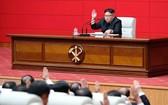 金正恩在最高人民會議上發表演說。(圖源:KCNA)