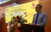 新聞與傳播部副部長潘心在新聞發佈會上發言。(圖源:何雲)