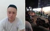 落網的嫌犯謝克輝(左圖)與案發現場(右圖)。(圖源:PLO)