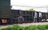 貨列車脫軌事故現場。(圖源:青松)