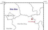 奠邊省發生里氏 2.7 級餘震。圖中星號表示震中位置。(圖源:地球物理院)