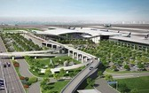隆城機場有望 2020 年底施工。圖為隆城機場效果圖。(圖源:越通社)