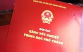 廣治省向化縣委日前已初步查明14名幹部使用假高中畢業文憑,正在審議並予以紀律處分。圖為高中畢業文憑。(示意圖源:互聯網)