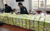 此前職能力量摧毀一起跨國販賣毒品案查獲的大量毒品。(圖源:州鄭)
