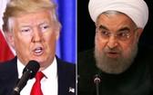 美國總統特朗普與伊朗總統魯哈尼。(圖源:互聯網)