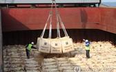 韓向朝提供大米援助,在韓國港口裝船。(圖源:韓聯社)