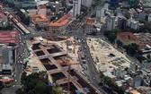 濱城-仙泉地鐵1號線項目的檳城站仍在施工中。(圖源:光定)