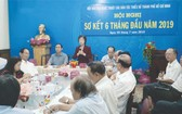 劉金華主席在會上致詞。