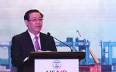 政府副總理王廷惠在會上致詞。(圖源:海英)