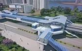 地鐵2號線S6站外觀總體設計圖。(圖源:互聯網)