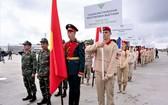 越南代表團出席開幕儀式。 (圖源:越通社)