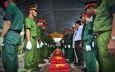 烈士遺骸追悼、安葬儀式。(圖源:VOV)