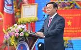 政府副總理王廷惠出席榮市大學第六十屆開課儀式並發表講話。(圖源:阮翡)