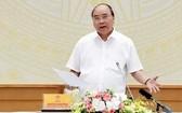 政府總理阮春福主持會議並發表講話。(圖源:統一)