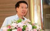 中央宣教部長武文賞在選民接觸會上發言。(圖源:功義)