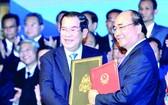 越柬簽署歷史性邊境協議。(圖源:越通社)