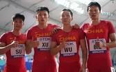 中國男子4x100接力隊。(圖源:互聯網)