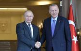 俄羅斯總統普京(左)與土耳其總統埃爾多安。(圖源:Sputnik)