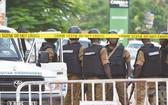 武警封鎖事發現場。(圖源:Getty Images)