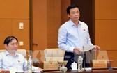 國會秘書長、辦公廳主任阮幸福在會議上發言。(圖源:越通社)