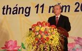 黨中央政治局委員、黨中央書記處常務書記陳國旺在紀念儀式上發言。(圖源:VOV)